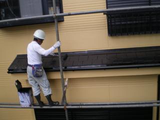 077下屋根中塗り.JPG