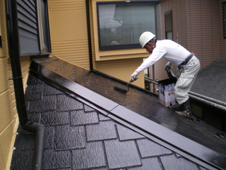079下屋根中塗り.JPG